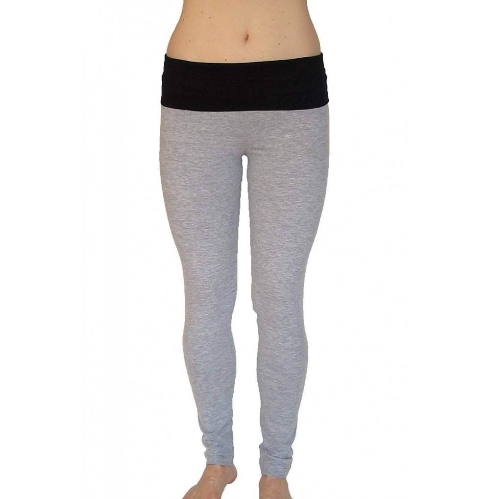Athletic Cotton Spandex Leggings Waist