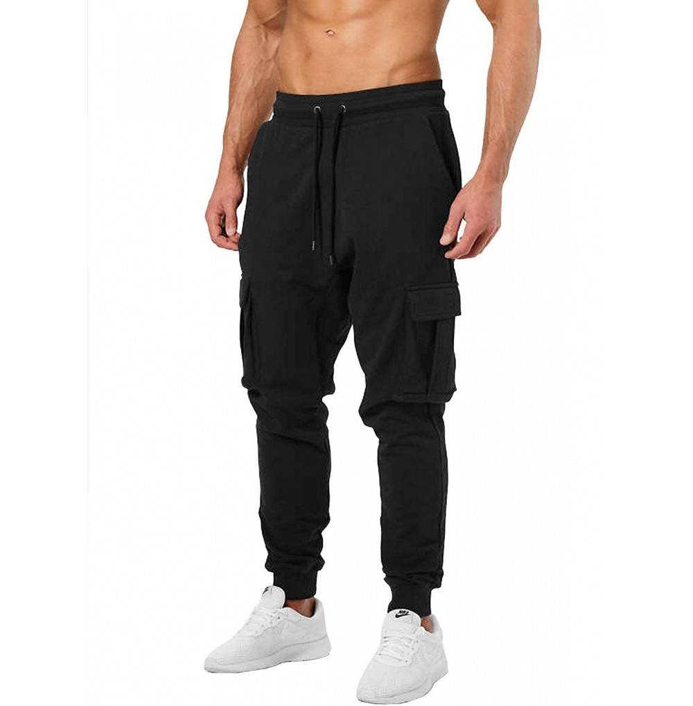 Ouber Joggers Pants Zippered Pockets