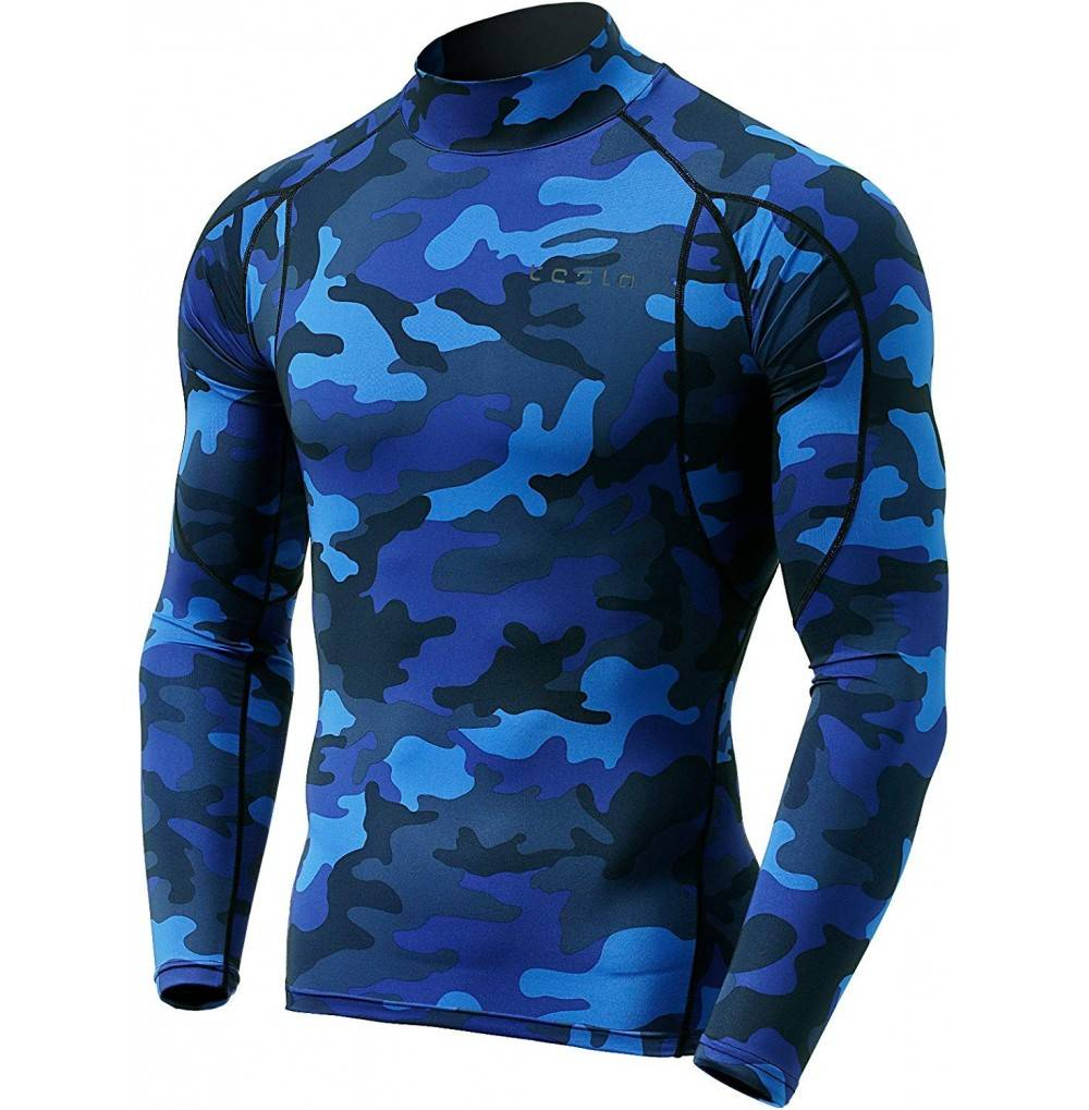 TSLA Long Sleeved T Shirt Compression Baselayer