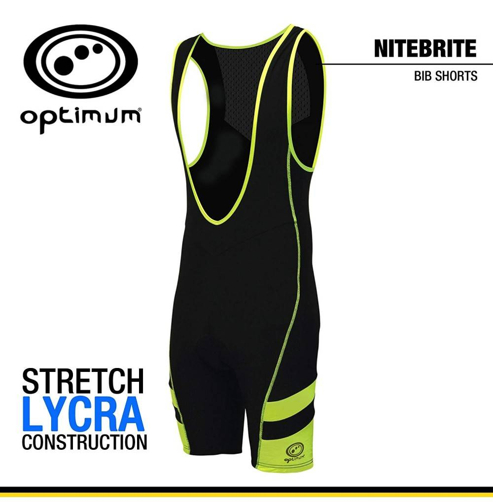 Optimum Mens Nitebrite Bib Shorts