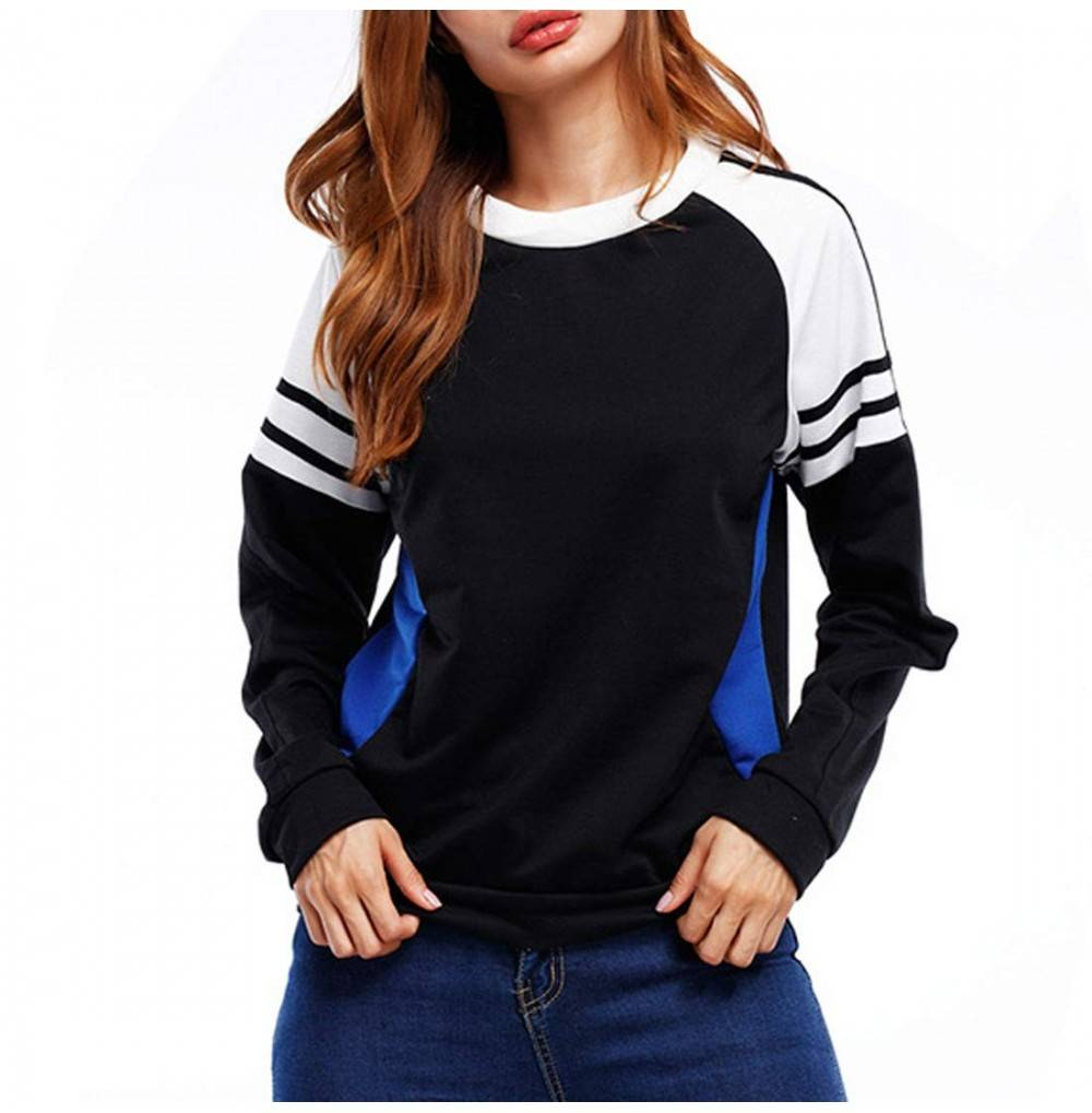 GLBUY Womens Casual Sleeve Sweater