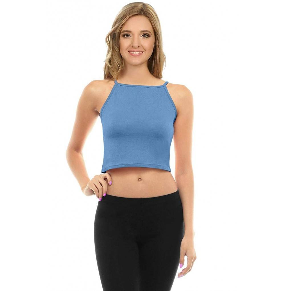 Simlu Womens Racerback Crop Top