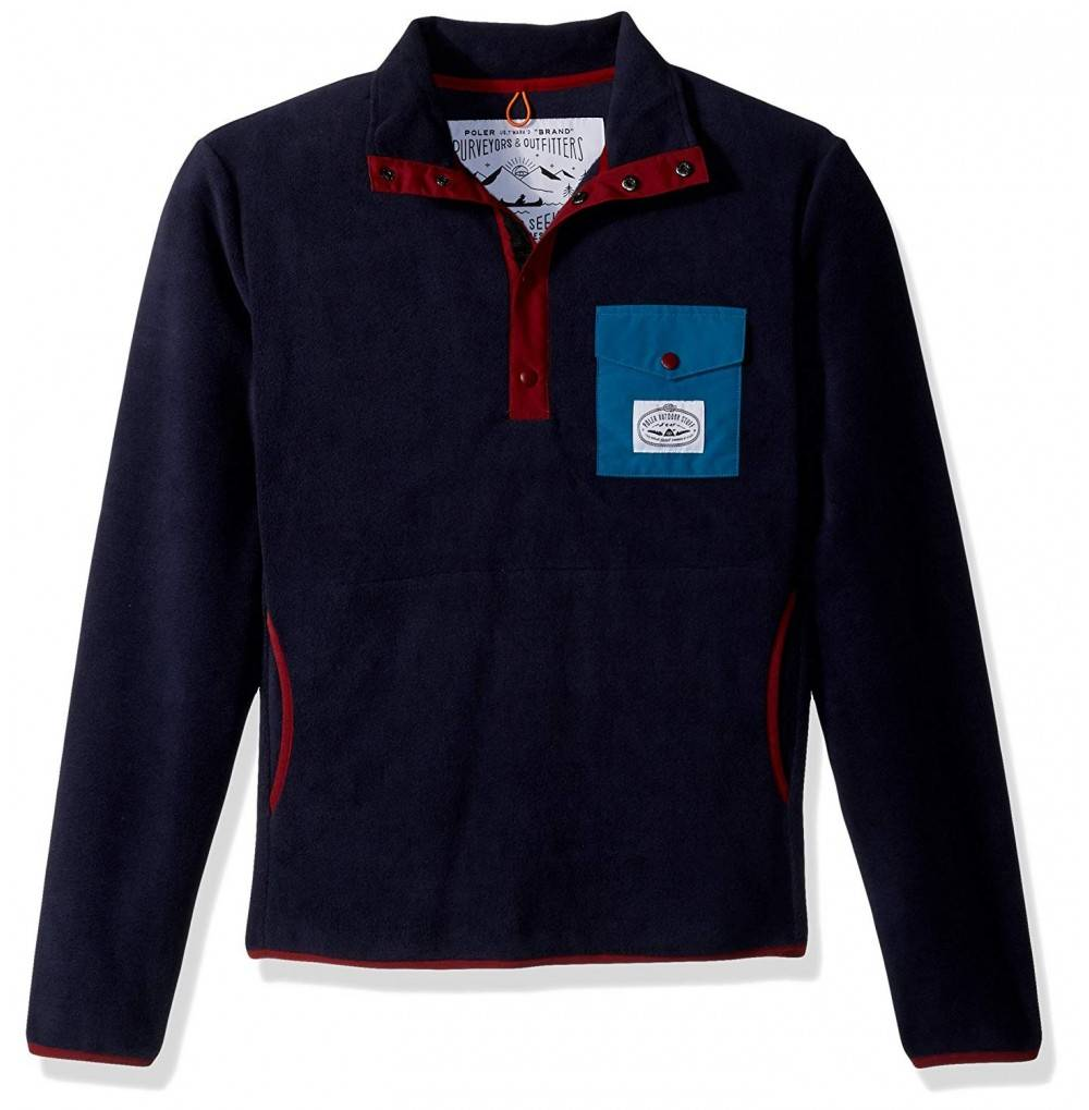 Poler 21600006 Mens Snap Fleece