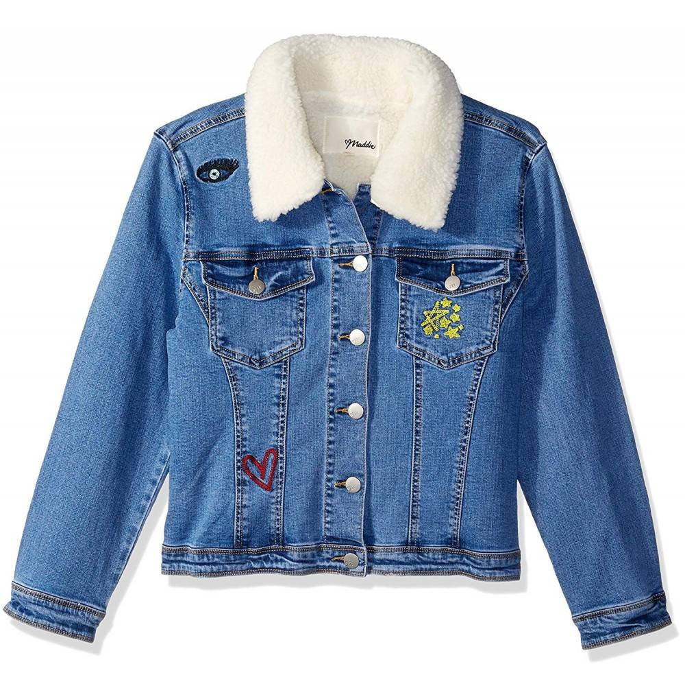 Maddie Girls Big Denim Jacket