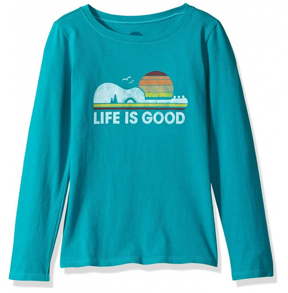 Life Good Sleeve Guitar T Shirt