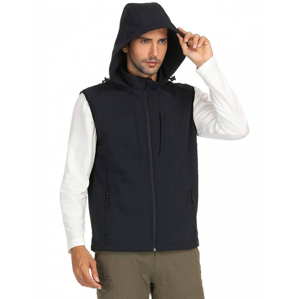MIER Fleece Lined Softshell Sleeveless Windproof