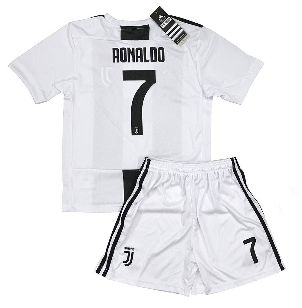 best service 9d68f d4151 New 2018-2019 Ronaldo 7 Juventus Home Jersey and Shorts for Kids & Youths -  CA18NL6WY0L Size 7-8 Years Old