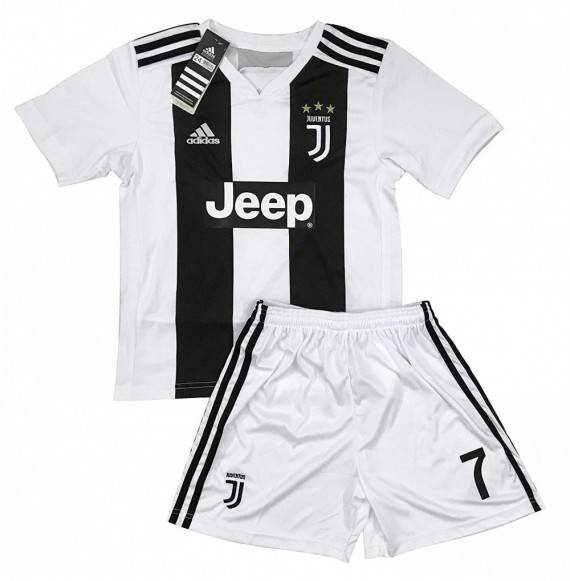 detailed look acff6 0f51d New 2018-2019 Ronaldo 7 Juventus Home Jersey and Shorts for Kids & Youths -  CA18NL6WY0L
