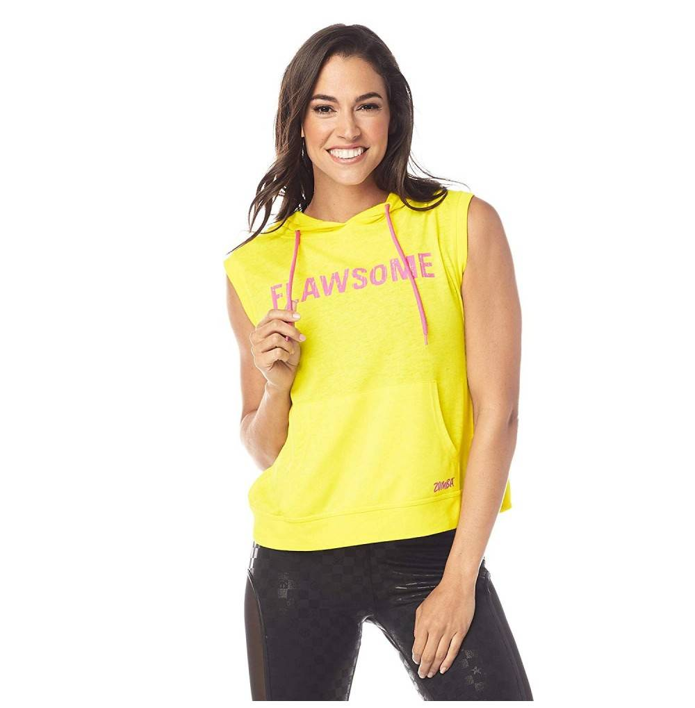Sleeveless Womens Hoodies Fitness Workout