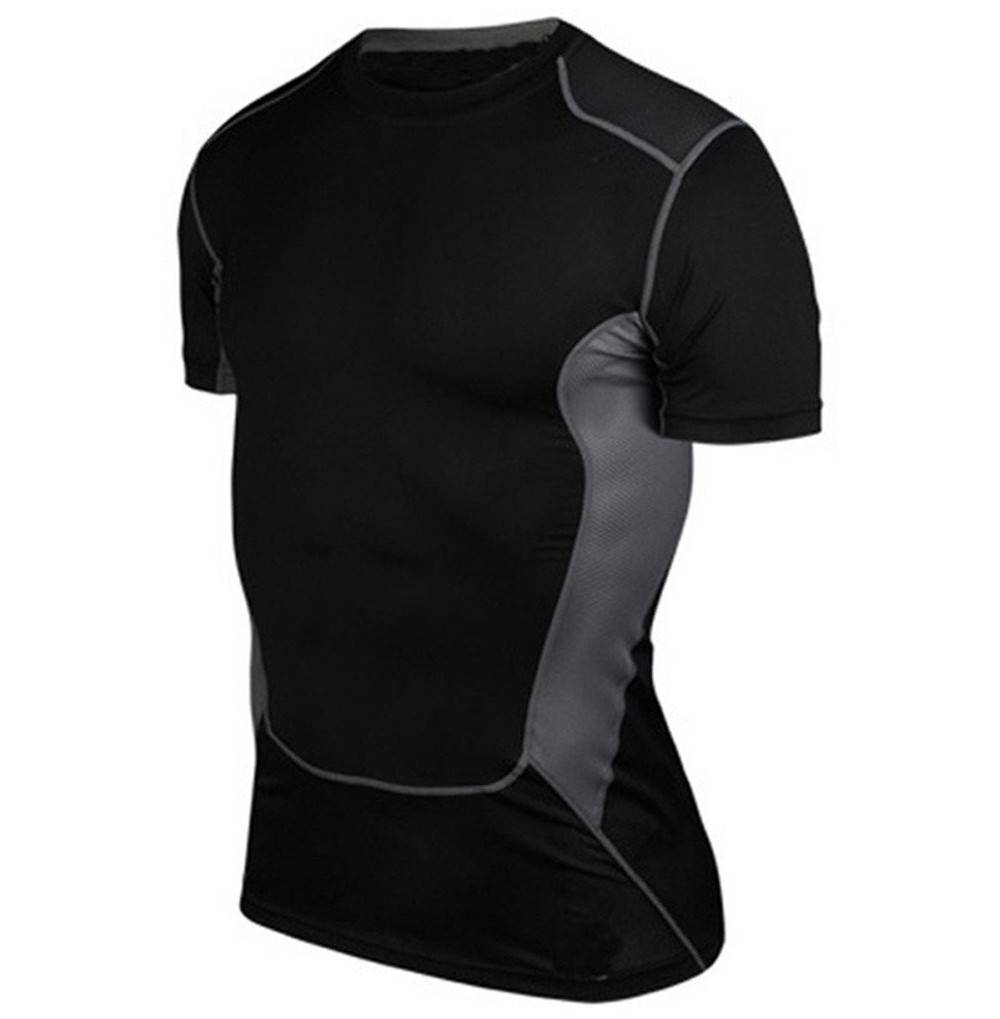 LANBAOSI Workout Training Compression T Shirt