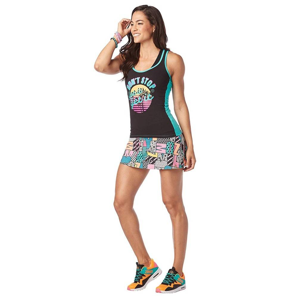 Zumba Athletic Graphic Workout Racerback