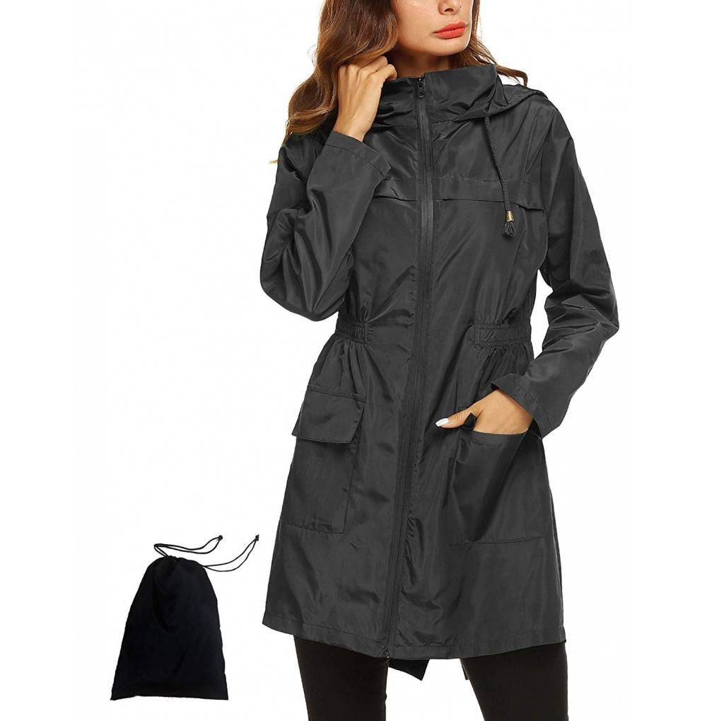 Romanstii Raincoat Lightweight Waterproof Packable