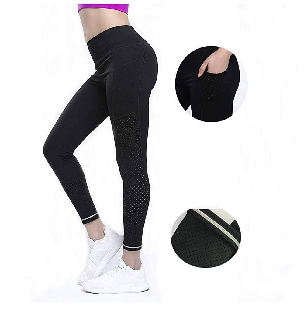 Leggings Workout Reflective Stripe Pocekts