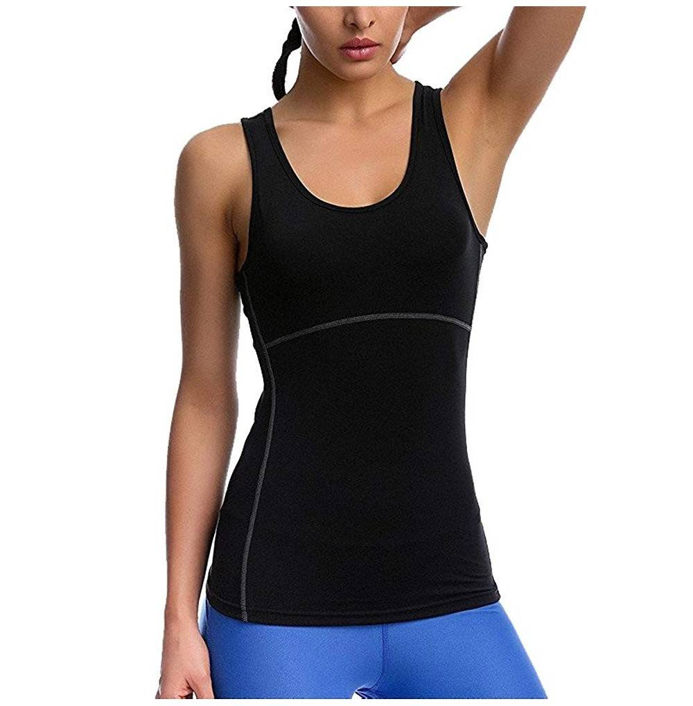 G Fengshang Womens Workout Compression Sleeveless