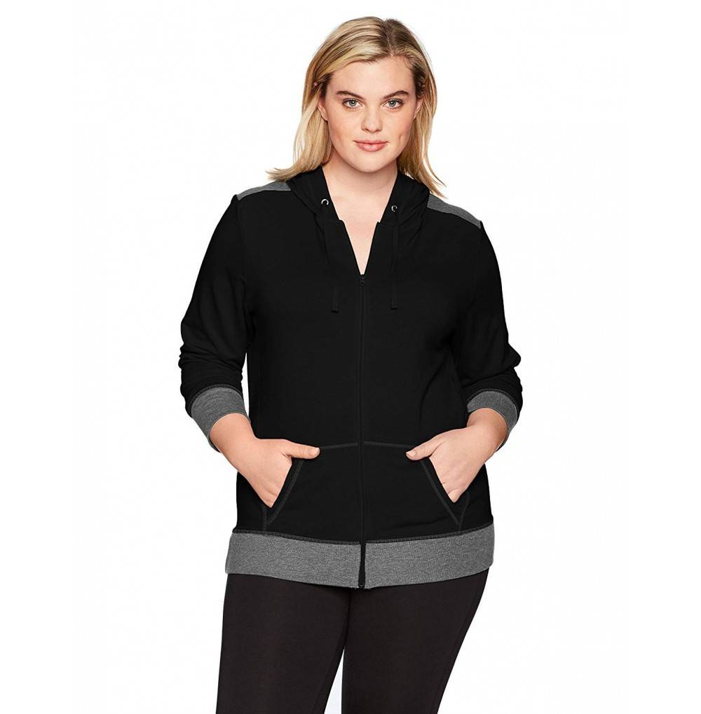 Just My Size Womens Full Zip