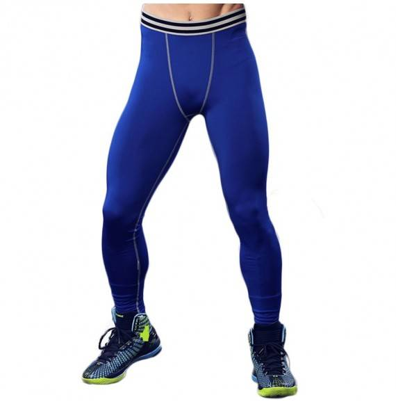Men S Basketball Compression Tights Dry Cool Sports Pants Baselayer Leggings Blue Cz184q6nh33 Size Medium
