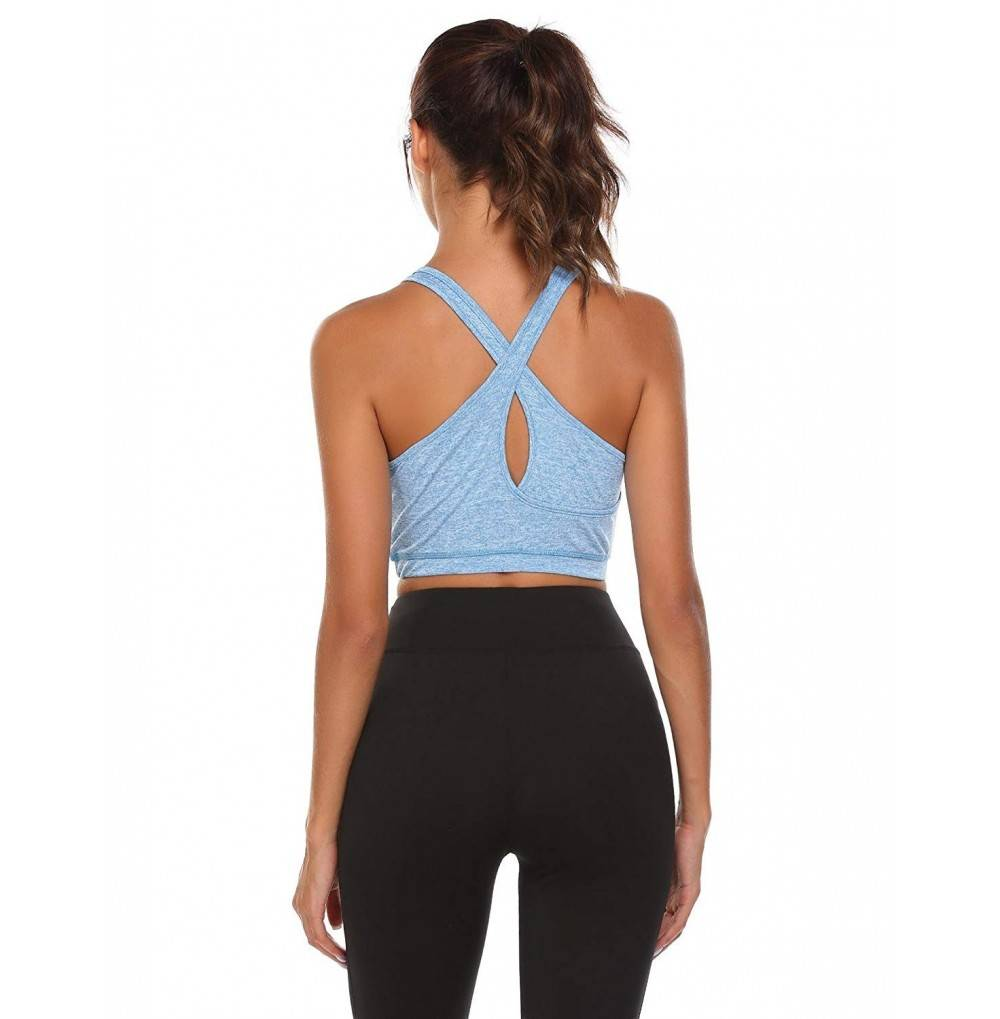 Ekouaer Womens Sleeveless Racerback Cross