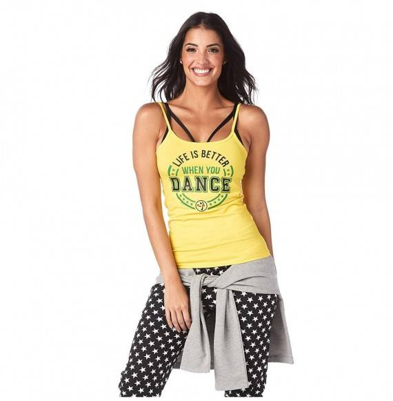 Zumba Graphic Strappy Workout Sunrays