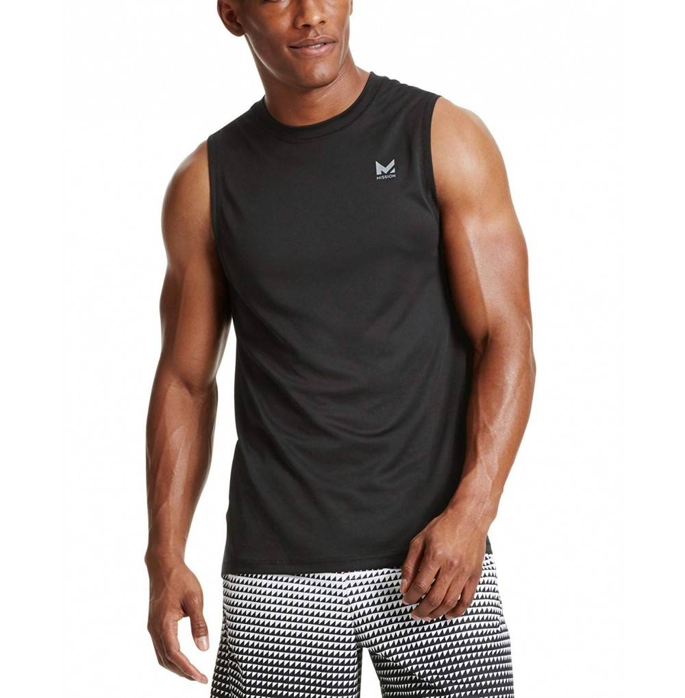 Mission VaporActive Sleeveless T Shirt Moonless