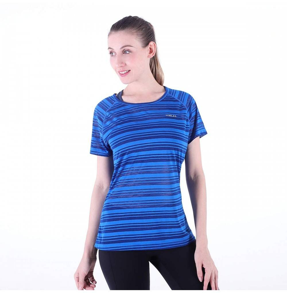 H MILES W055 Womens Active T Shirt