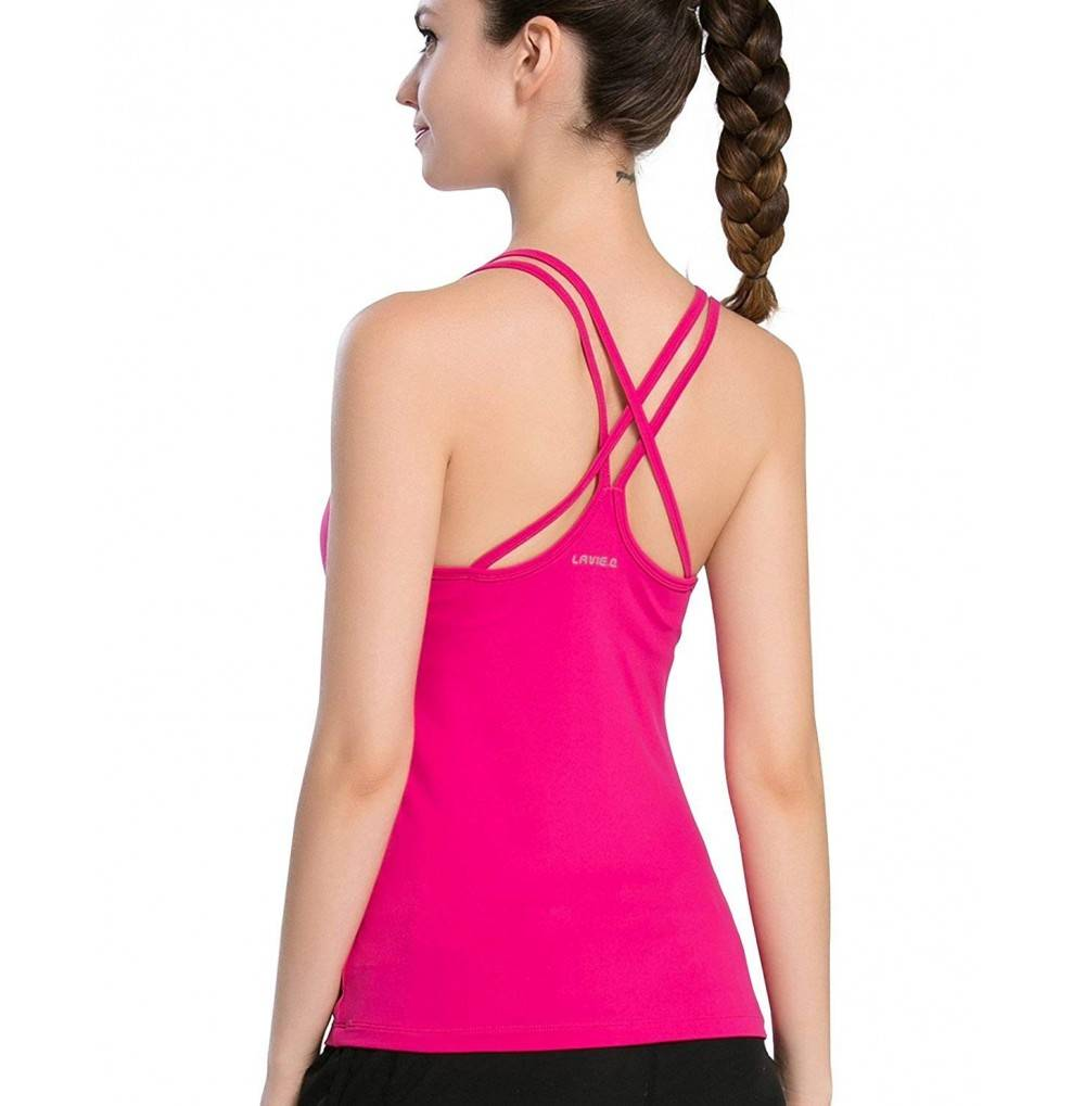 Campeak Womens Solid Workout Camisole