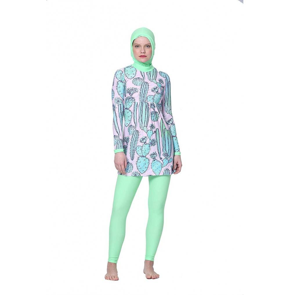 Amanda Burkini Swimwear Sleeves Swimming