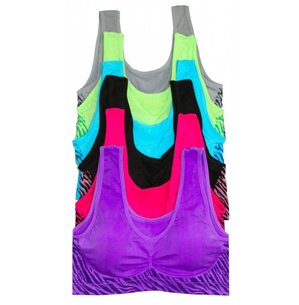 ToBeInStyle Womens Padded Racerback Sports