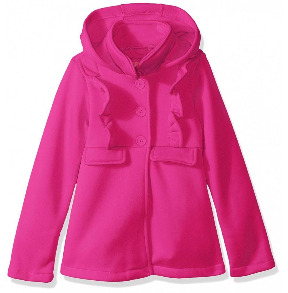 Pink Platinum Fleece Ruffle Jacket