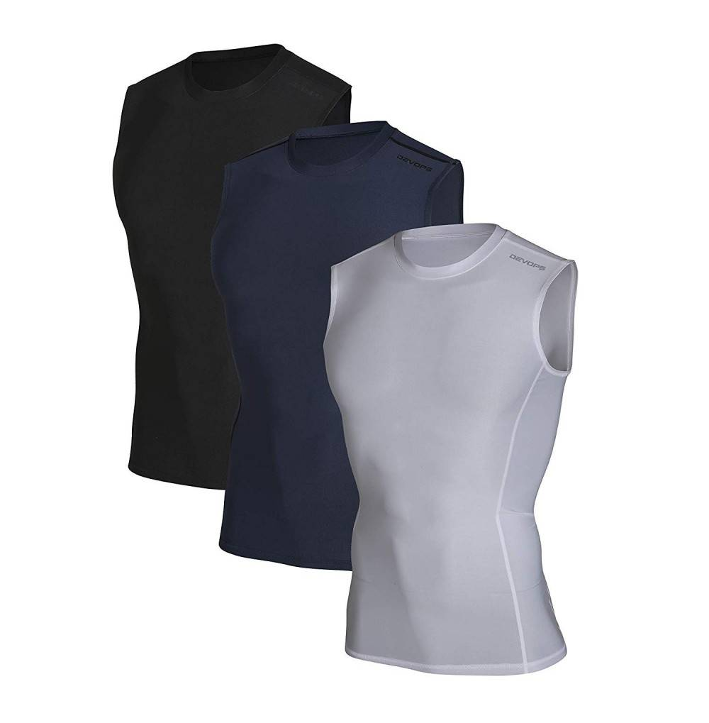 DEVOPS Athletic Compression Baselayer Sleeveless