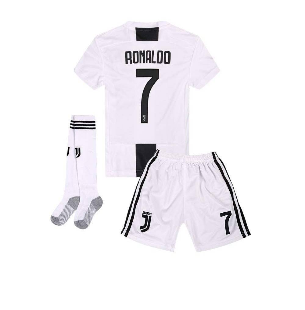release date: 81b4f 78b1f Kids/Youth Home Soccer Jersey & Shorts & Socks 2018-2019 Black/White -  CN18KDNT0OL Size 7-8Y/Size22