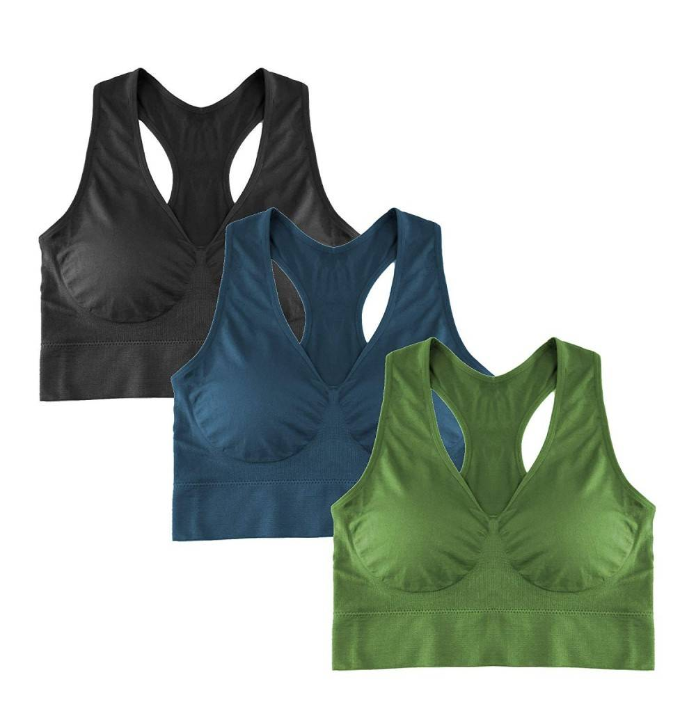 Popular Seamless Racerback Removable Padding