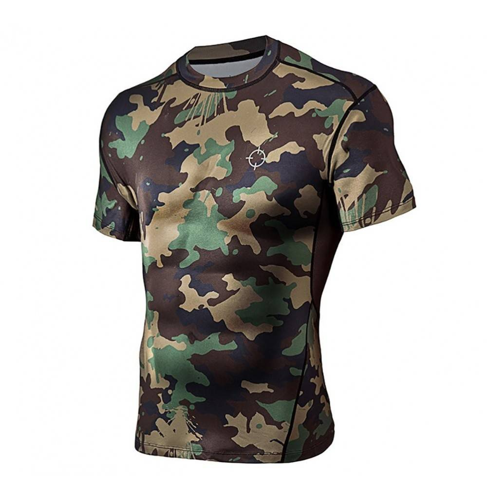 RIGORER Camouflage Compression Running Baselayer