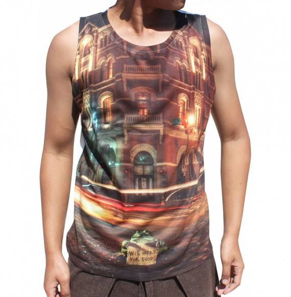 Full Funk Sheen Sleeveless Shirt