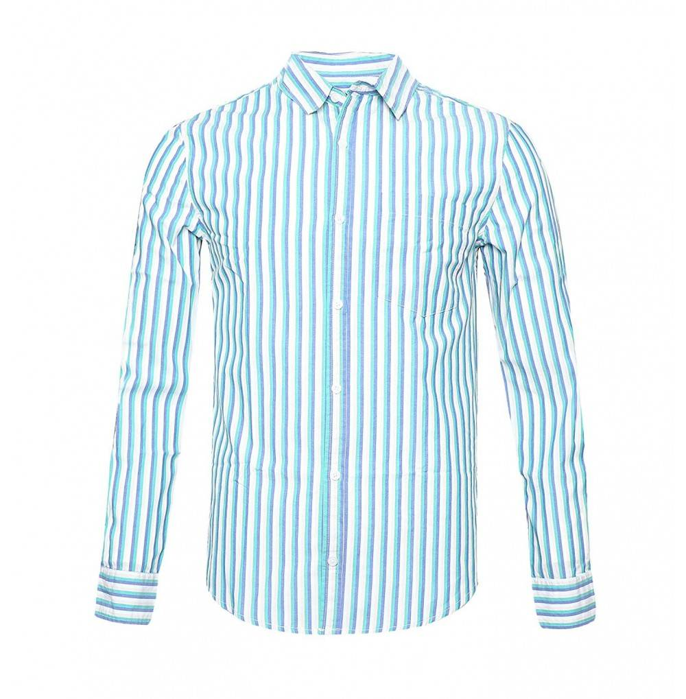 NUTEXROL Sleeve Cotton Striped Shirt