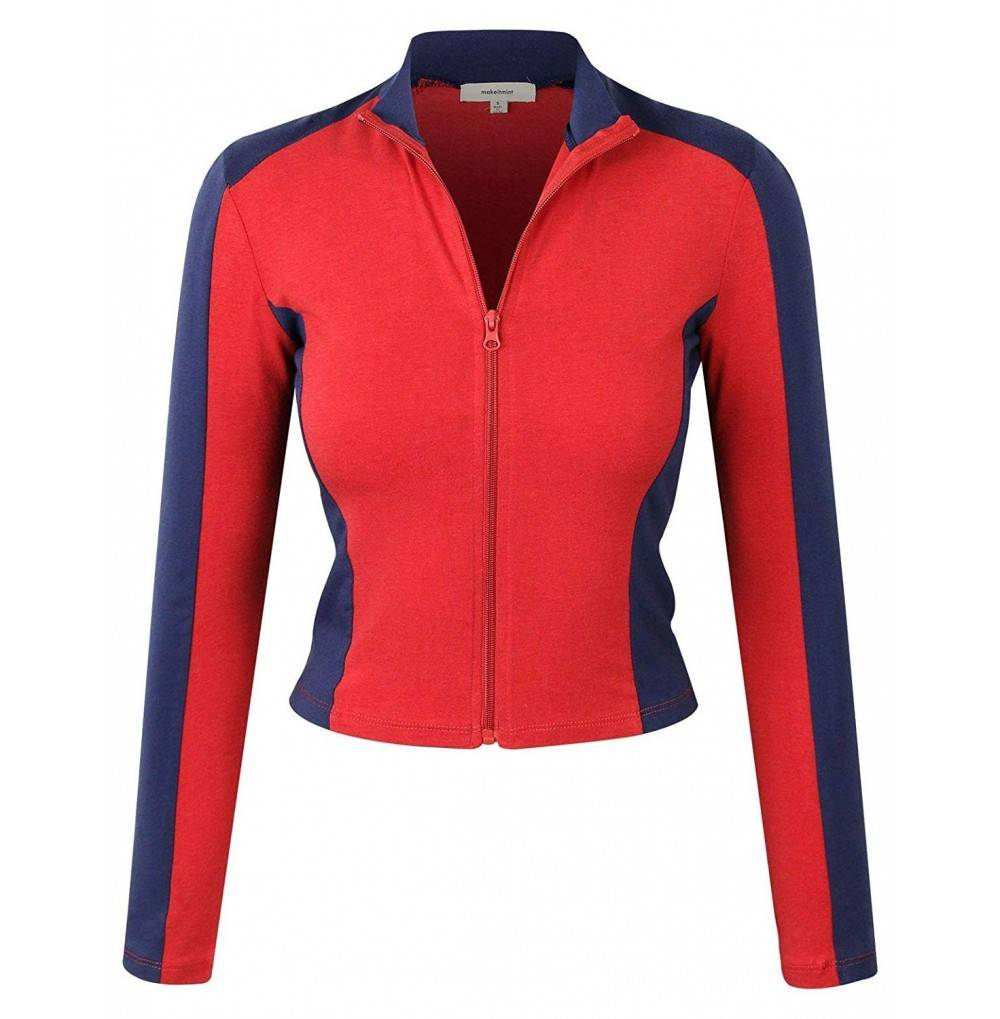 makeitmint Womens Breathable Jacket YJZ0080 RED SML