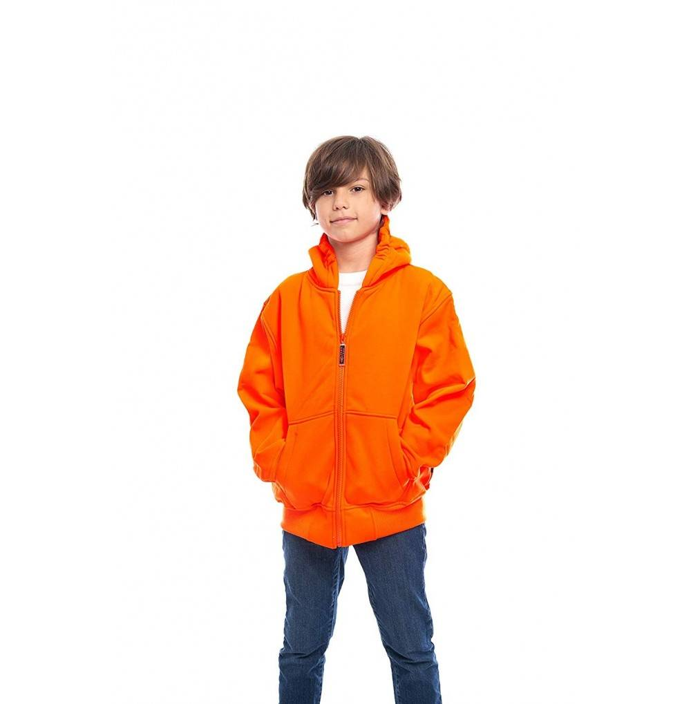 TrailCrest Safety Orange Double Fleece
