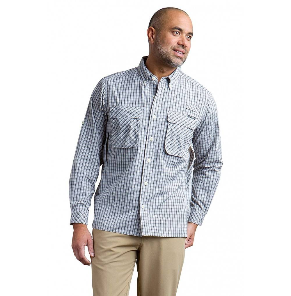 ExOfficio Strip Micro Plaid Long Sleeve Shirt