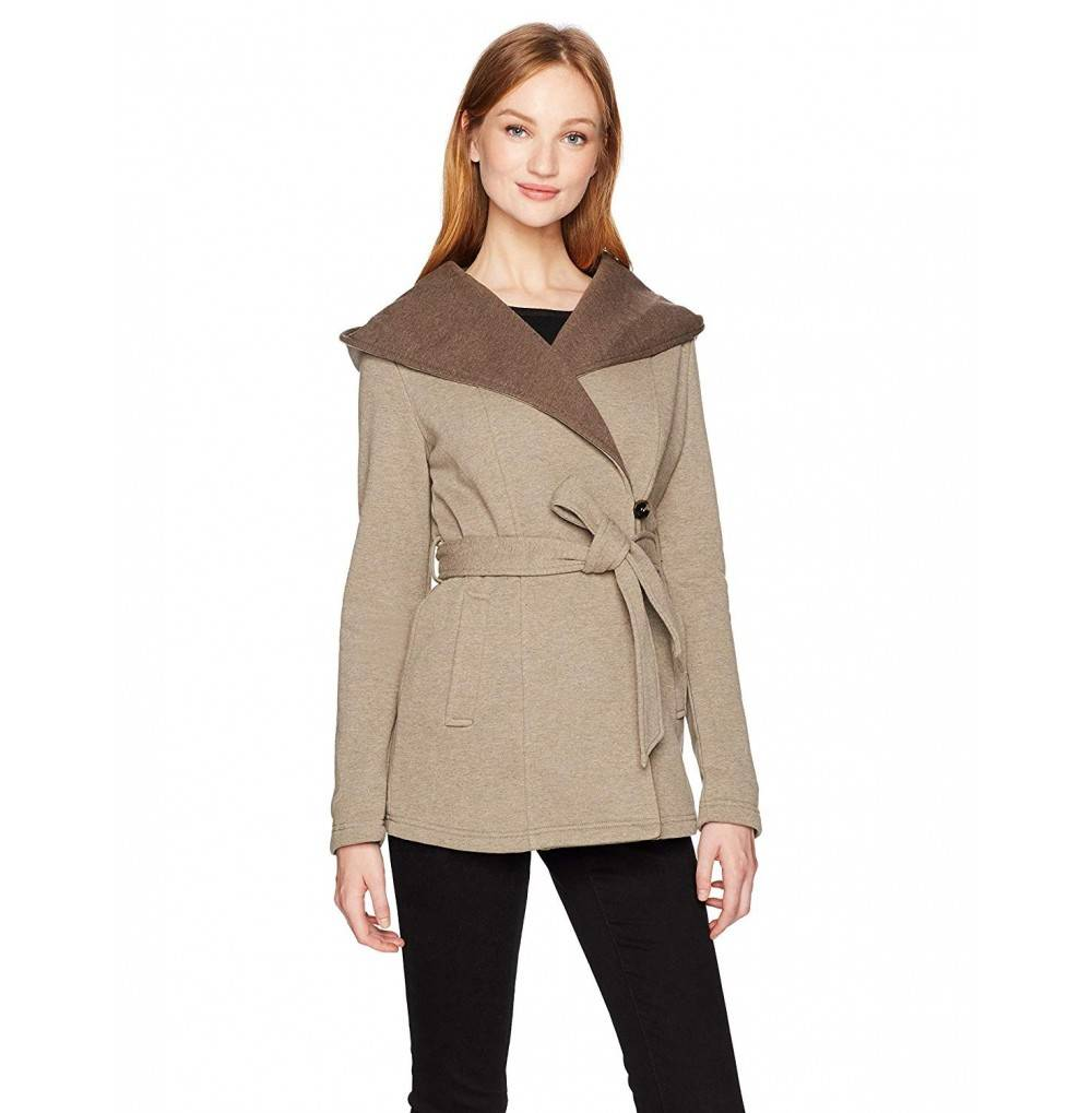 Sebby Collection Womens Belted Fleece