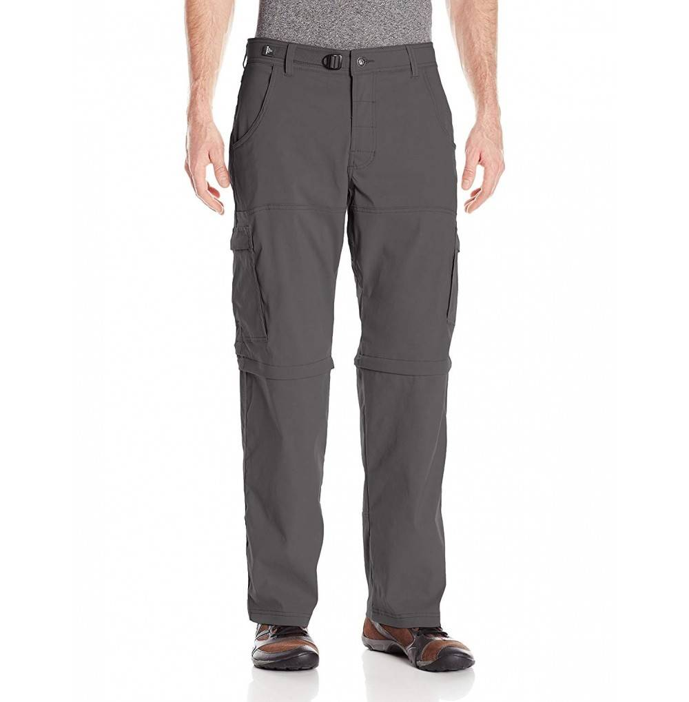prAna Stretch Convertible Pants Charcoal