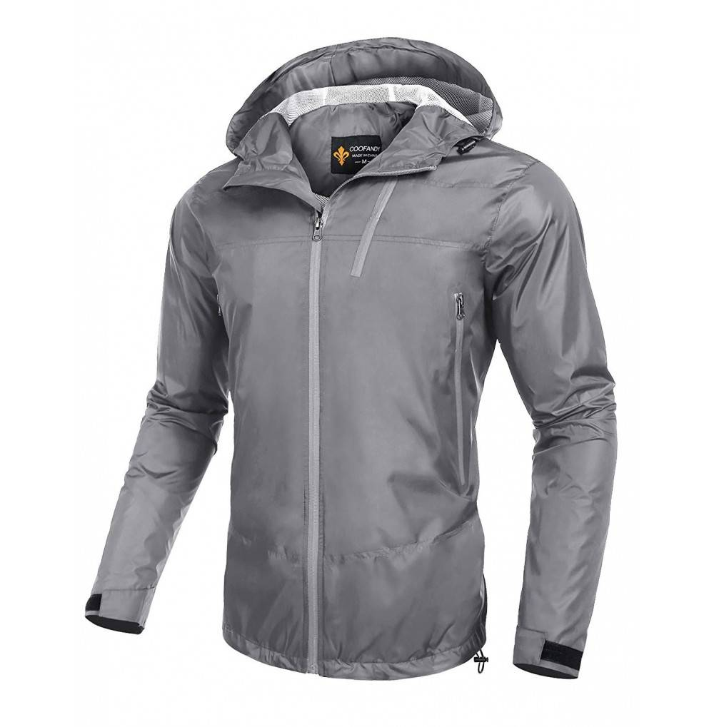 COOFANDY Lightweight Waterproof Packable Windbreaker