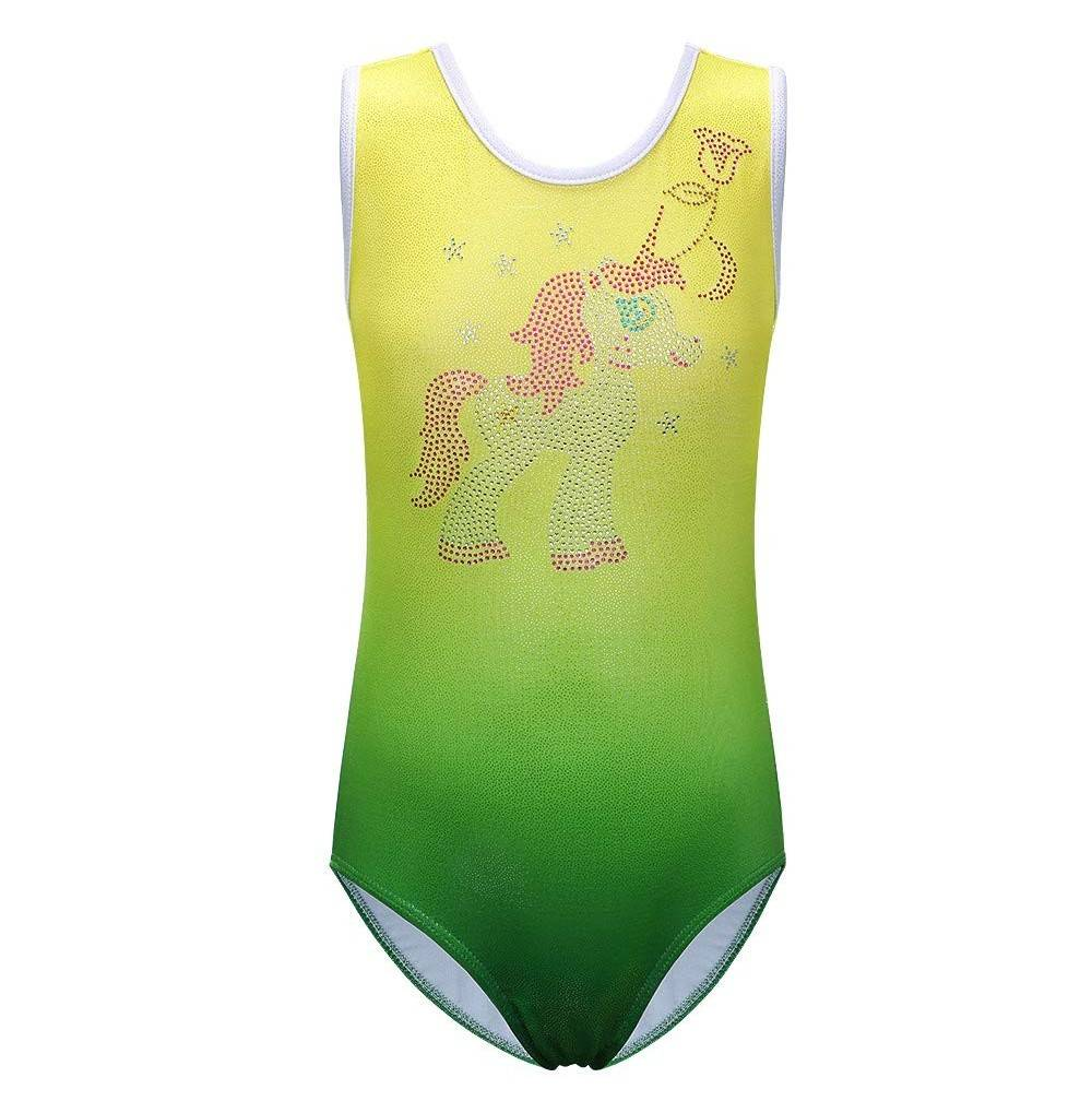 XIAOFEIGUO Sleeveless Leotards Gymnastics Biketards