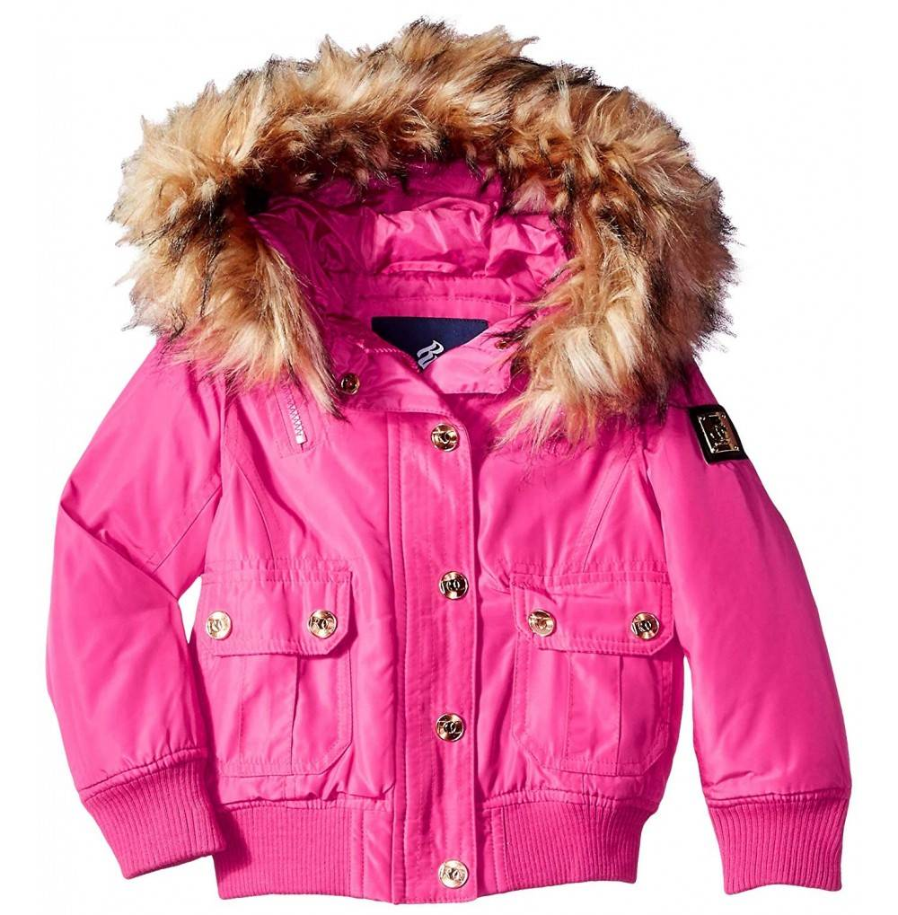 Rocawear Girls Hooded Bomber Jacket