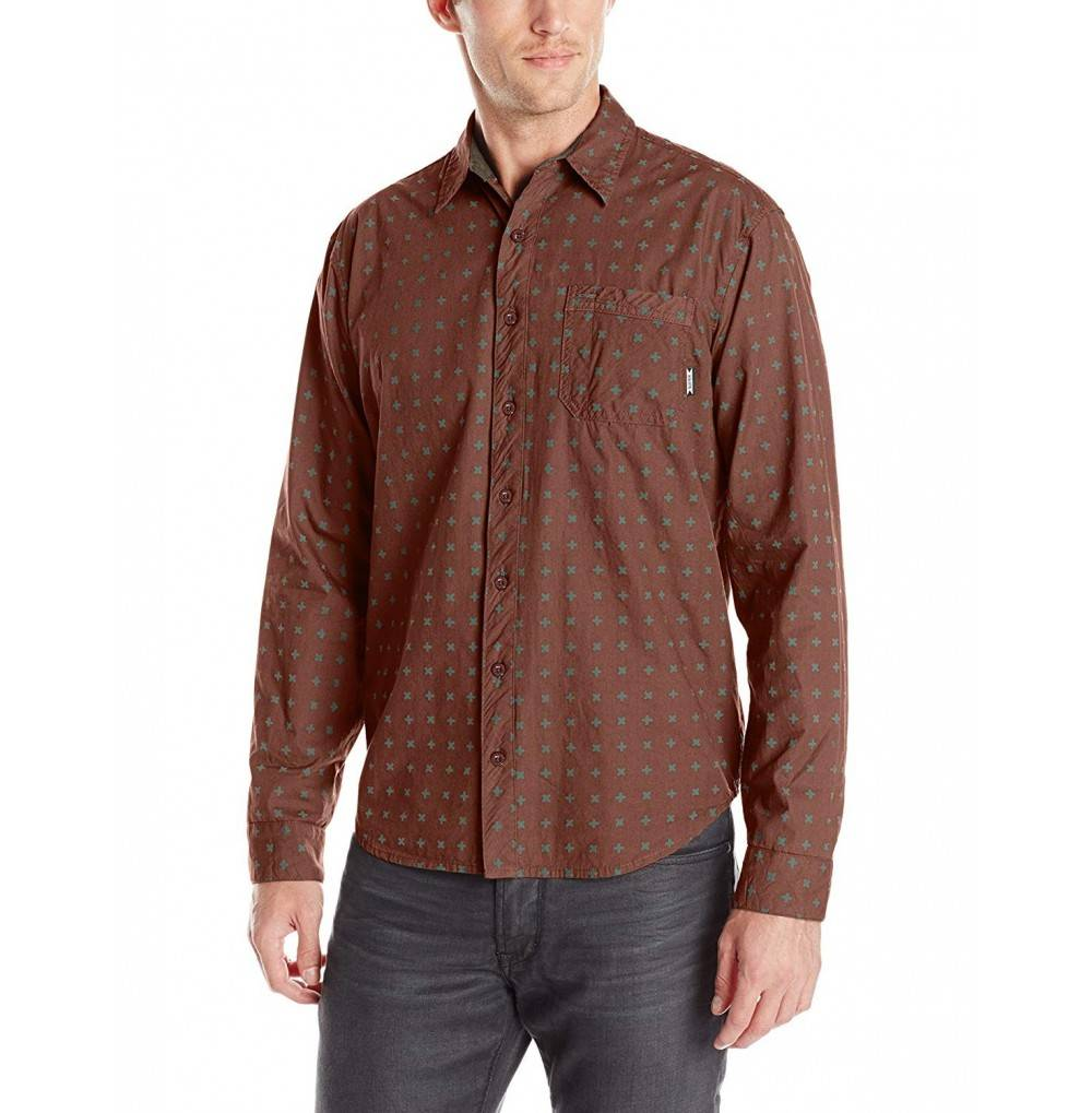 SUPERbrand Porch Long Sleeve Woven Shirt