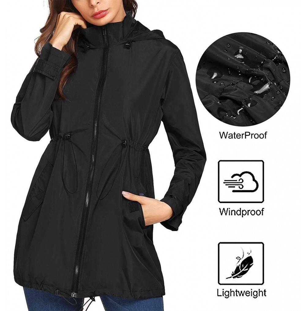 Mofavor Lightweight Waterproof Raincoat Windbreaker